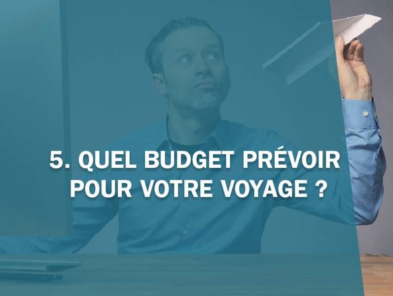 5. Quel budget prévoir pour votre voyage ?
