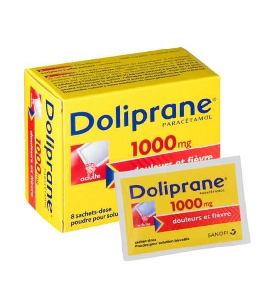 À privilégier : Doliprane 1.000 Mg, 8 sachets-dose pour solution buvable