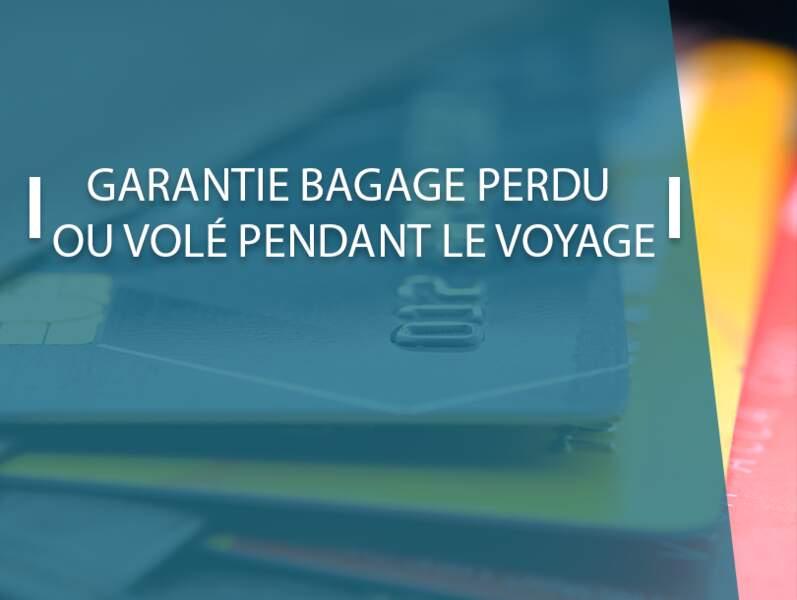 Garanties bagage perdu, volé ou détérioré pendant le voyage