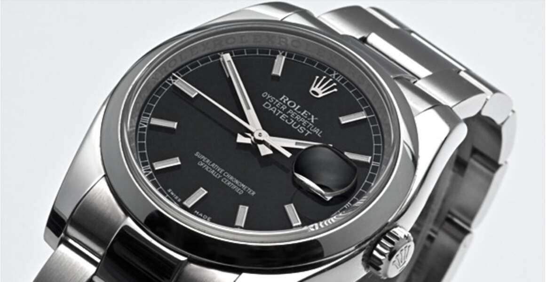 Rolex, modèle Datejust Quadrante Nero Indici