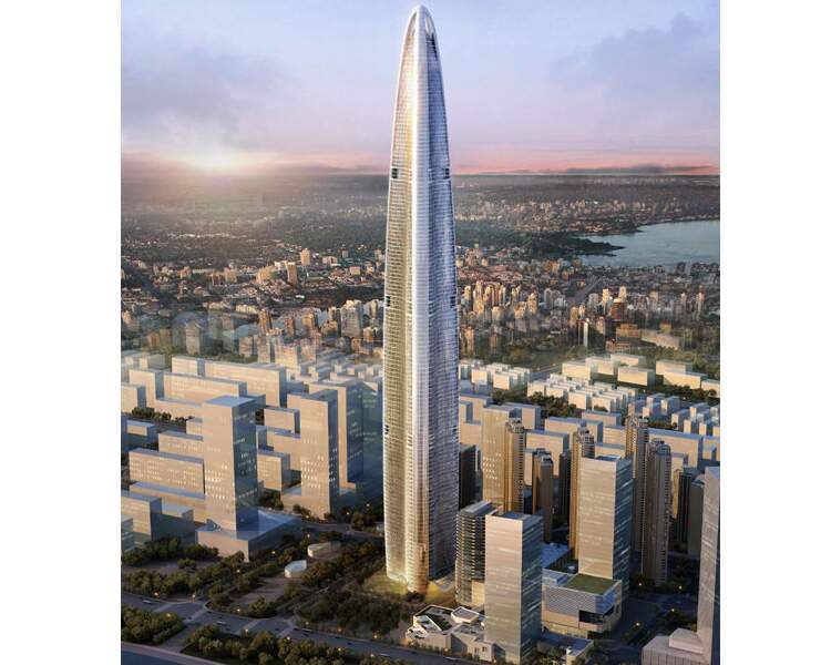 N°4 - Wuhan Greenland tower à Wuhan (Chine)
