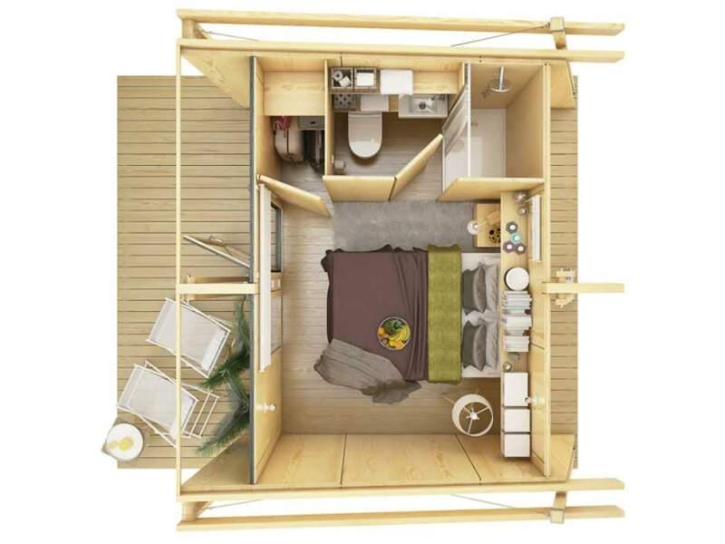 12m2 :  Des maisons en bois que n'importe qui peut monter en cinq heures seulement