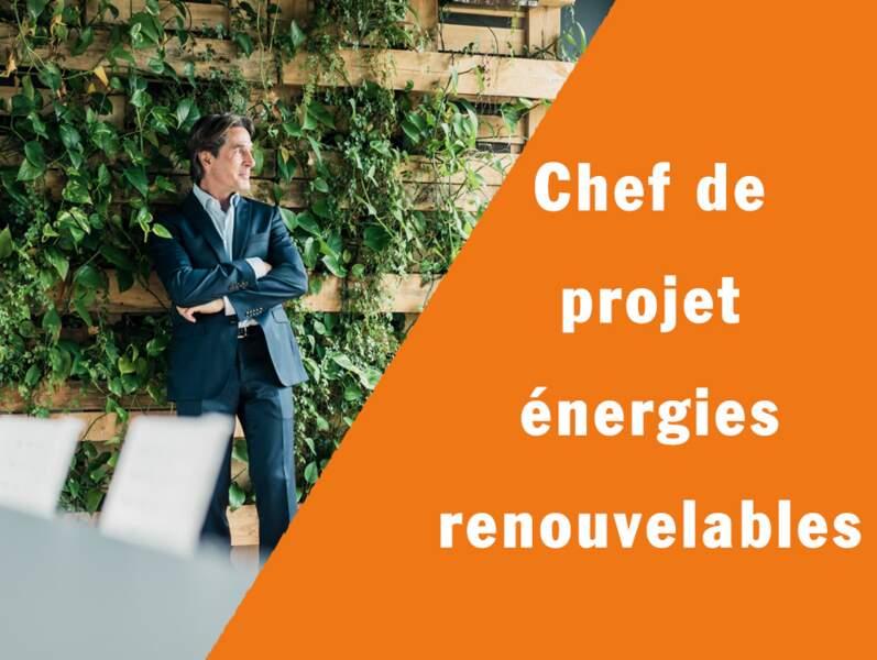 Chef de projet énergies renouvelables - Il pilote les nouvelles installations