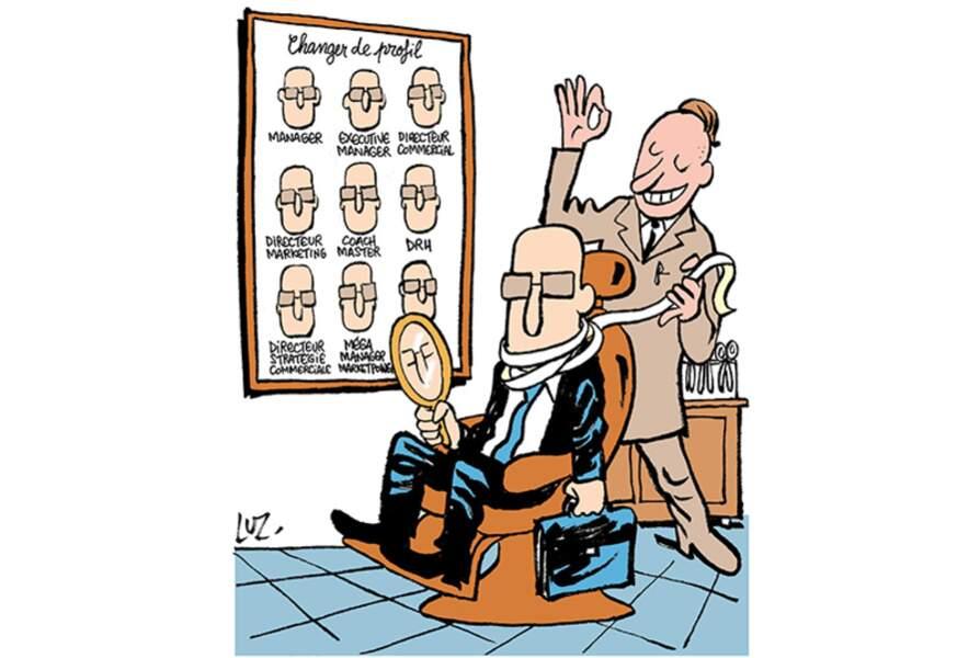 """Caricature de Luz pour illustrer un article sur """"Les formations qui font rêver les chasseurs de tête"""""""