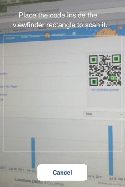 N°3 QR code scanner