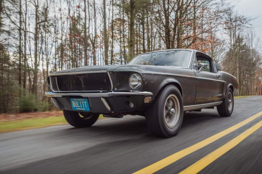 1968 : Mustang originale qui a joué dans le film Bullitt