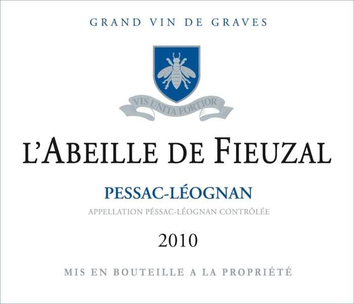 Pessac-léognan (L'Abeille de Fieuzal 2010 - blanc sec)