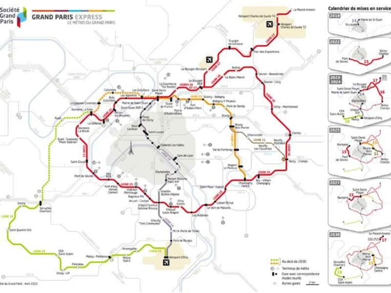 La ligne 15 sud programmée pour 2022