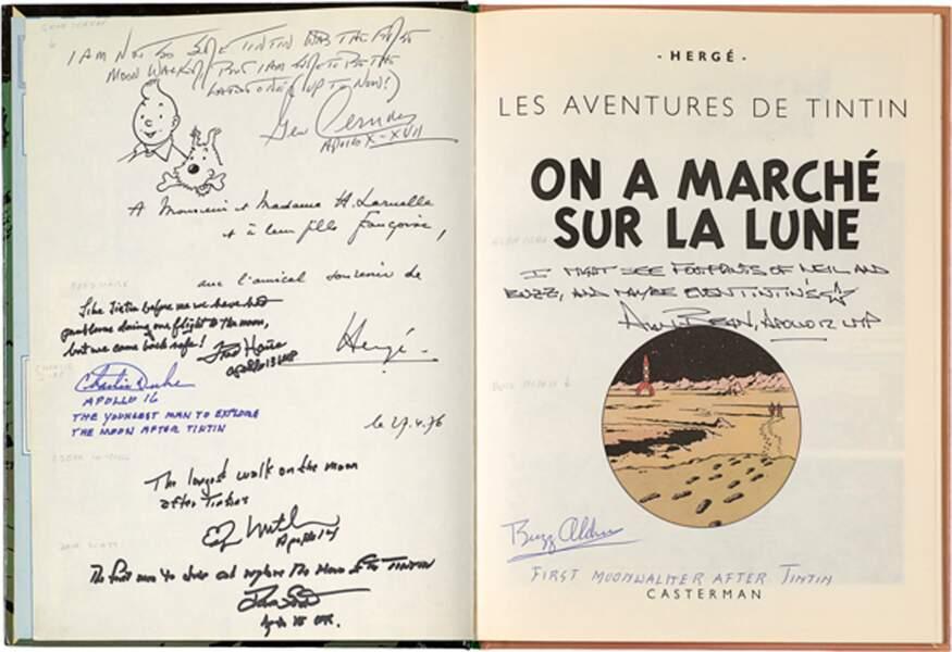 """Hergé : L'album """"On a marché sur la lune"""""""