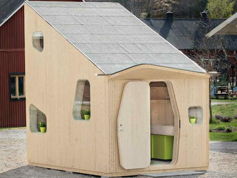 10m2 :  Tout le confort dans une cabane en bois pour étudiant