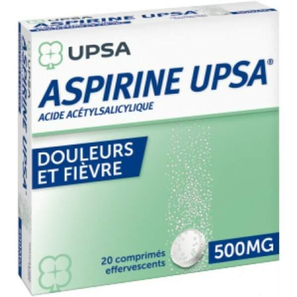 À éviter : Aspirine UPSA 500 Mg, 20 comprimés effervescents