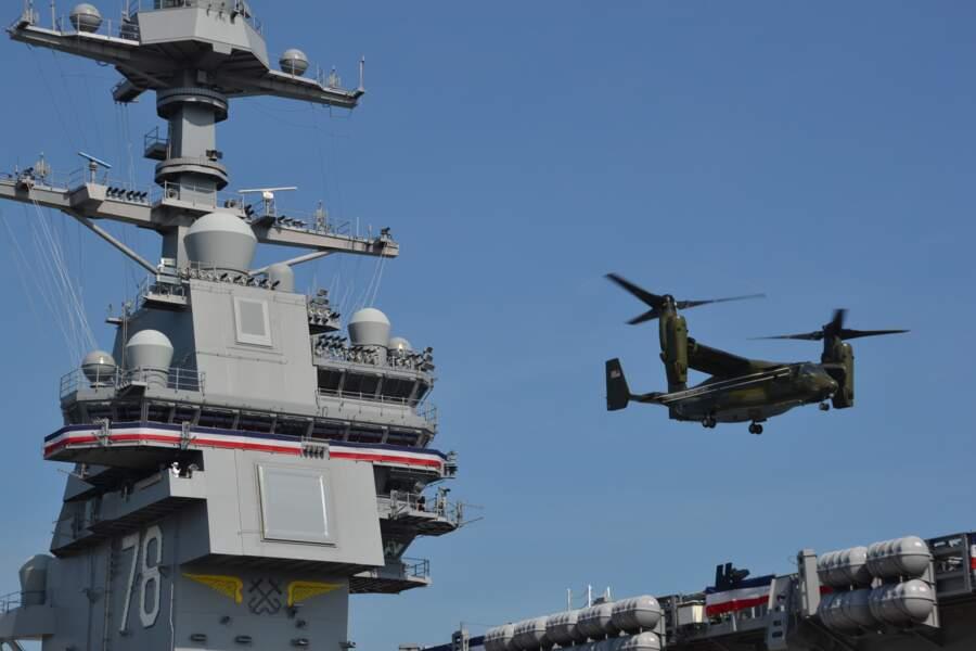 Le reconnaissable V-22 Osprey était aussi de la partie.