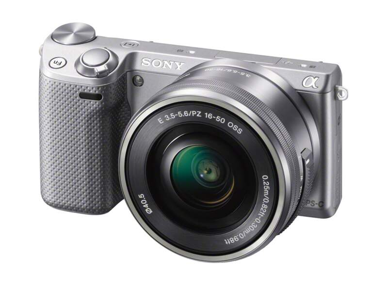Le meilleur appareil photo hybride moyen de gamme : Sony Nex-5T argent