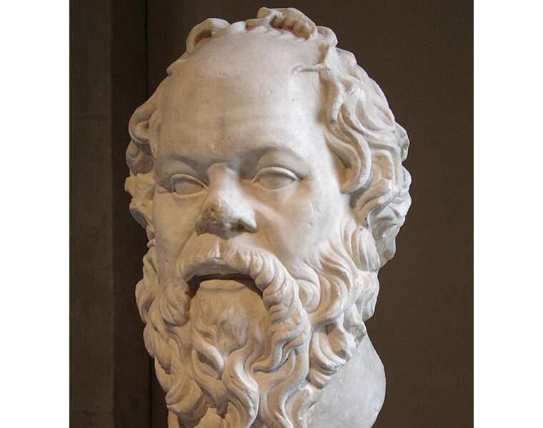 Socrate (mort en 399 av. J.-C.), inventeur de la philosophie occidentale