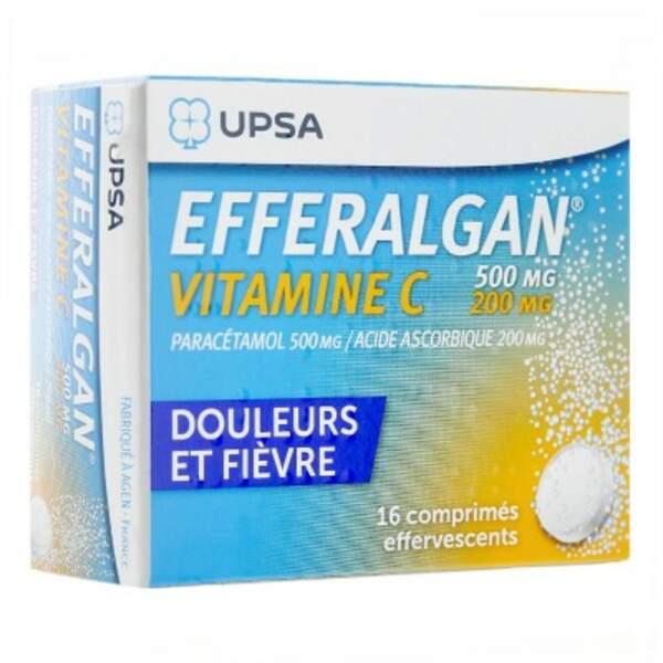 À privilégier : Efferalgan vitamine C, 16 comprimés effervescents