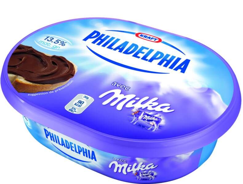 Philadelphia avec Milka, le fromage au cacao