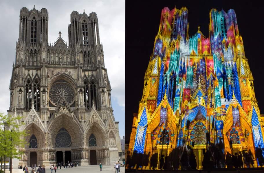La cathédrale Notre-Dame, l'ancienne abbaye Saint-Rémi et le palais du Tau, à Reims