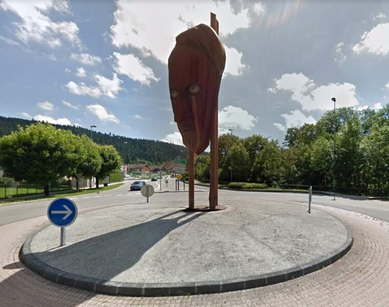 Le masque d'André Malraux à Pontarlier (dans le Doubs)
