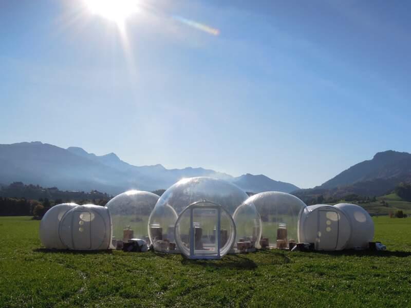 Des chambres d'hôtes gonflables et transparentes