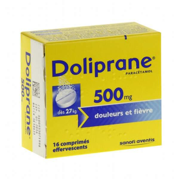 À privilégier : Doliprane 500 Mg, 16 comprimés effervescents