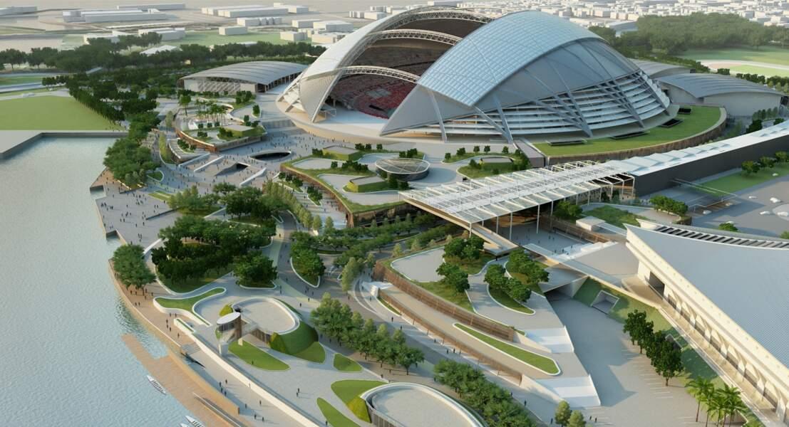 Kallang (Singapour) un toit ultrafin et entièrement mobile