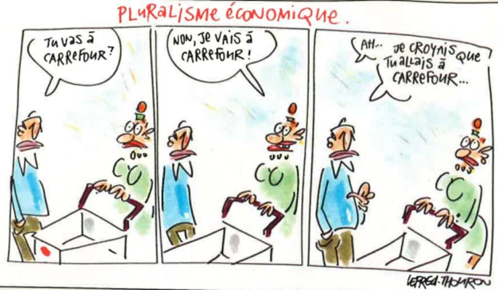 Carrefour et Promodès ne font plus qu'un (janvier 2000)