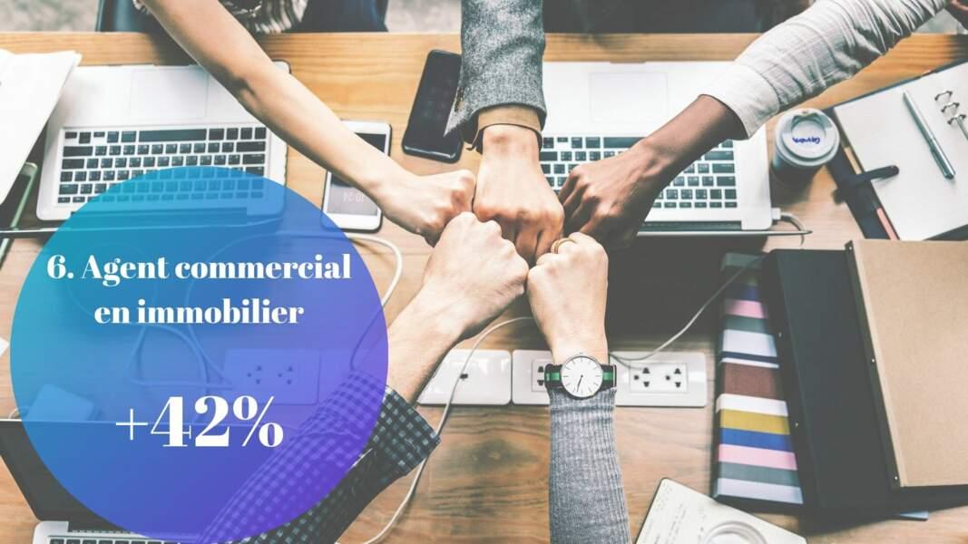 6. Agent commercial en immobilier : + 42%