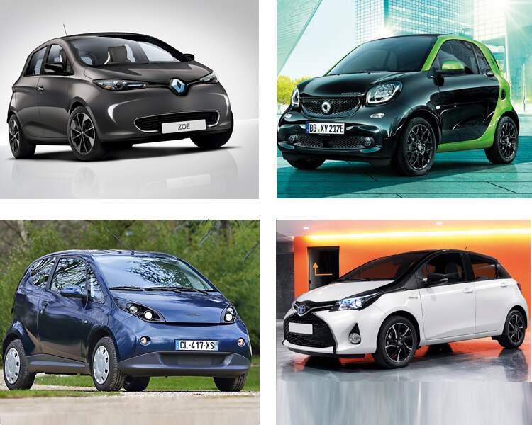Dix voitures électriques ou hybrides à partir de 12.000 euros