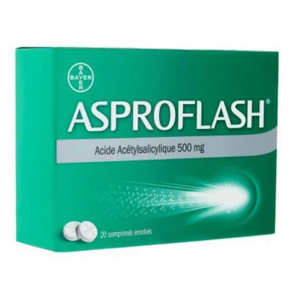 À éviter : Asproflash 500 Mg, 20 comprimés enrobés