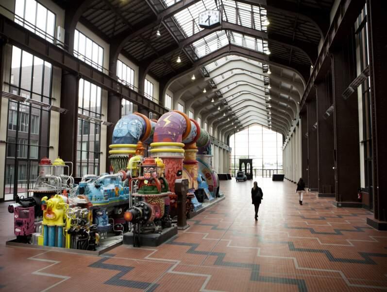 La Cité du cinéma (Ile-de-France) : les anciennes turbines servent désormais de décor