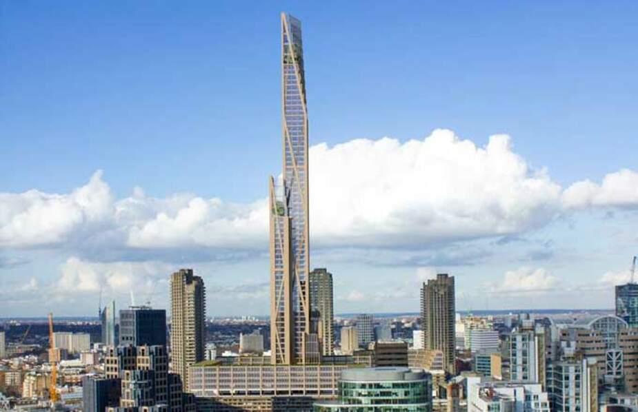 La tour Oakwood de Londres (Angleterre)