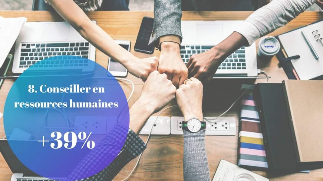 8. Conseiller en ressources humaines : + 39%