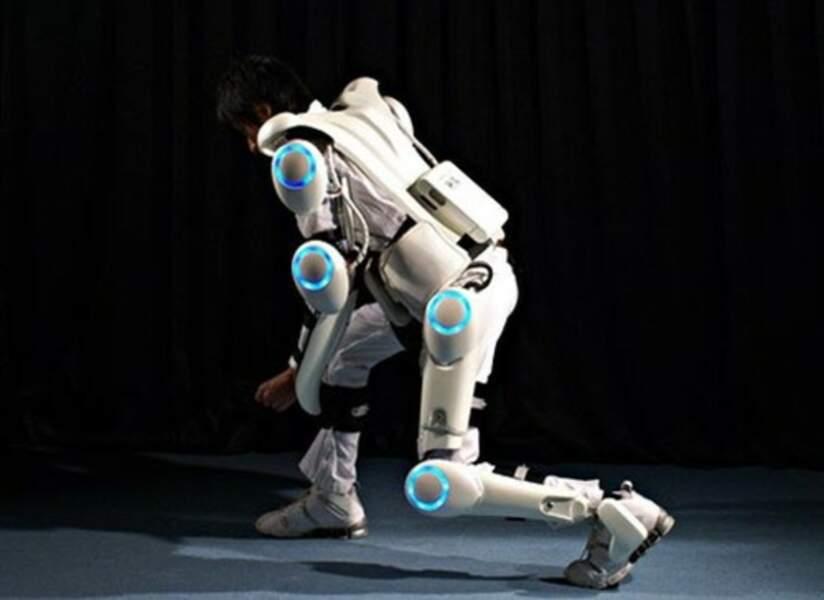 Avec l'exosquelette, on soulèvera de lourdes charges sans effort