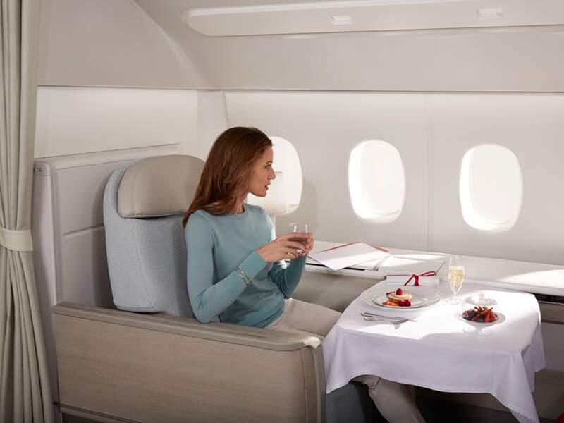 Air France, la première en service haute couture
