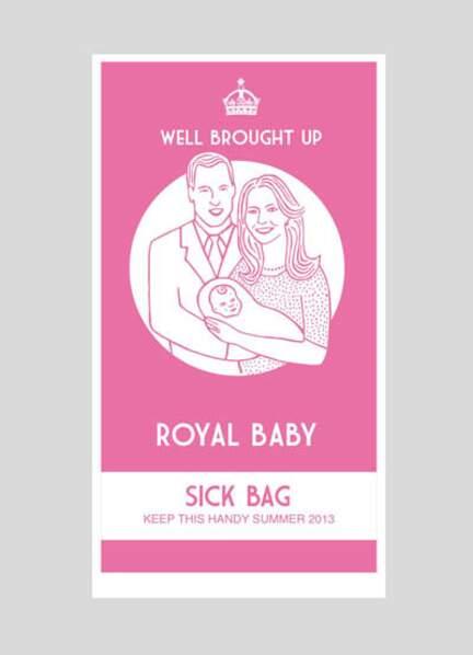 """Le """"sick bag"""" royal"""