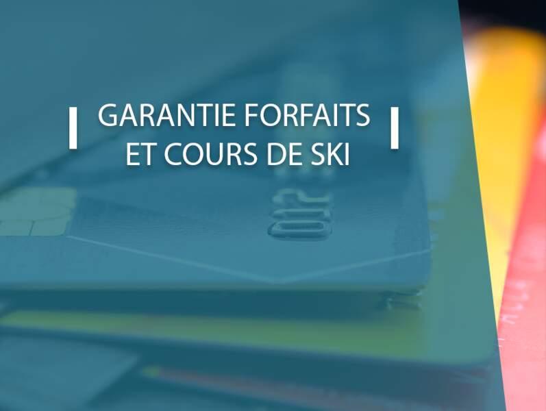 Garantie forfaits et cours de ski