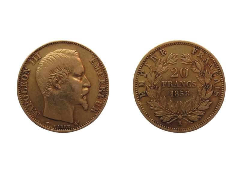 515 millions : le nombre de Napoléon 20 Francs frappés depuis 1803, année de sa première émission