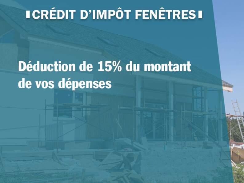 Crédit d'impôt fenêtres