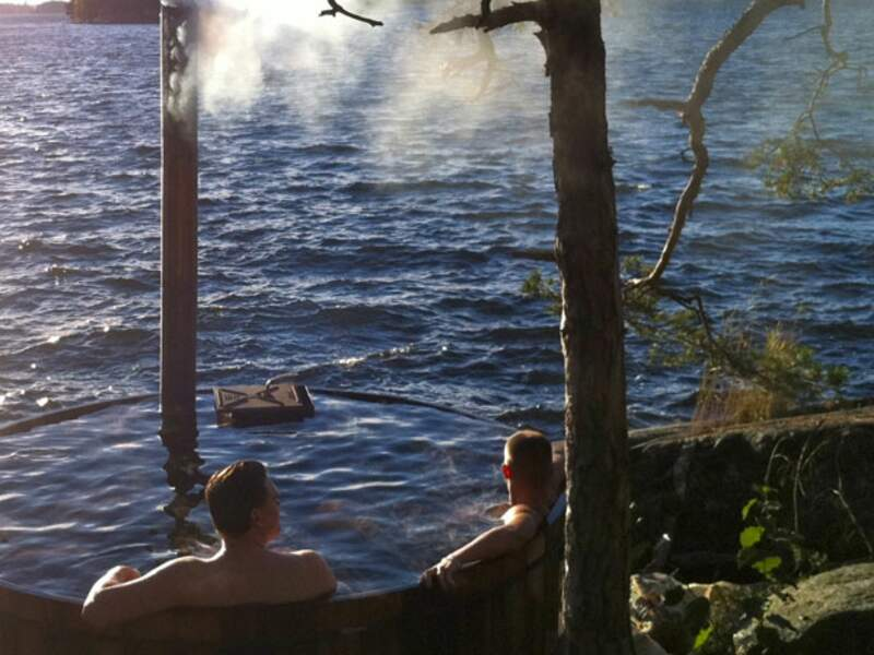 Camping chic à la suédoise sur ISLAND LODGE