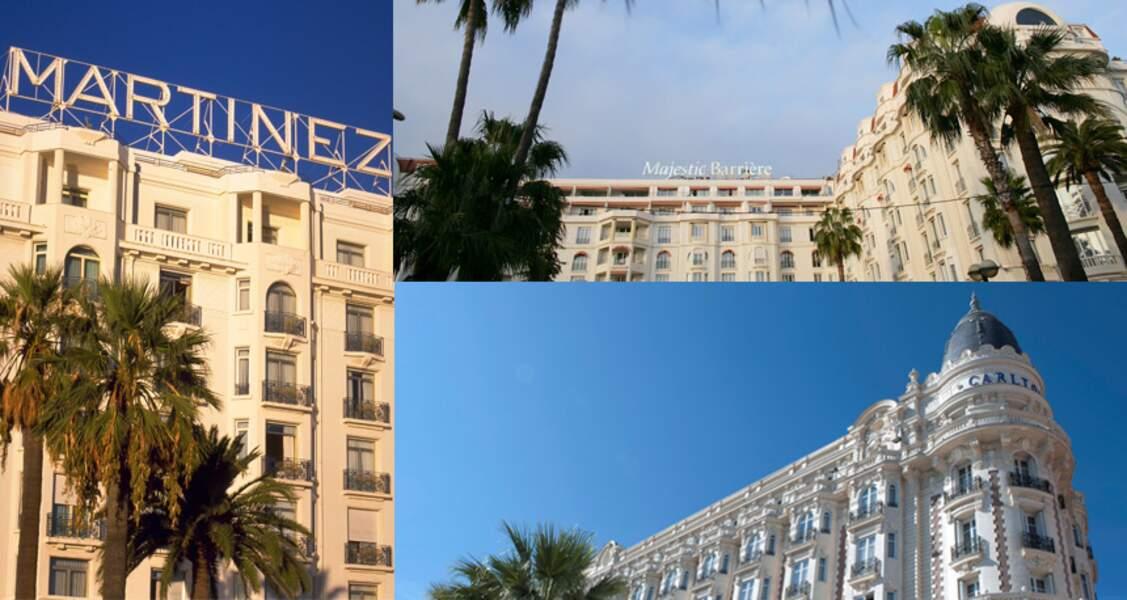 Les hôtels Carlton, Martinez et Majestic de Cannes