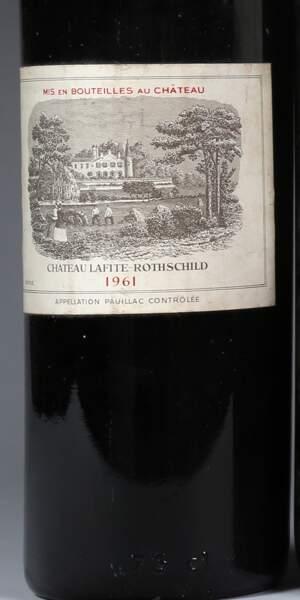 Château Lafite-Rothschild, 1er grand cru classé, 1961 (1 bouteille)