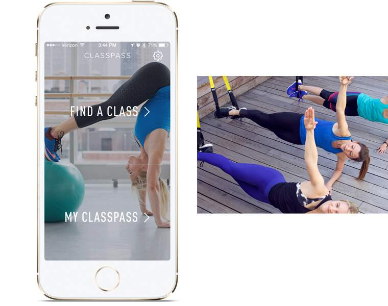 CLASSPASS: Appli de cours de gym