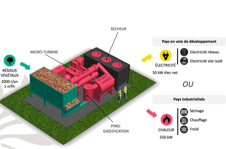 Mini Green Power révolutionne la biomasse, le chauffage par la combustion de végétaux