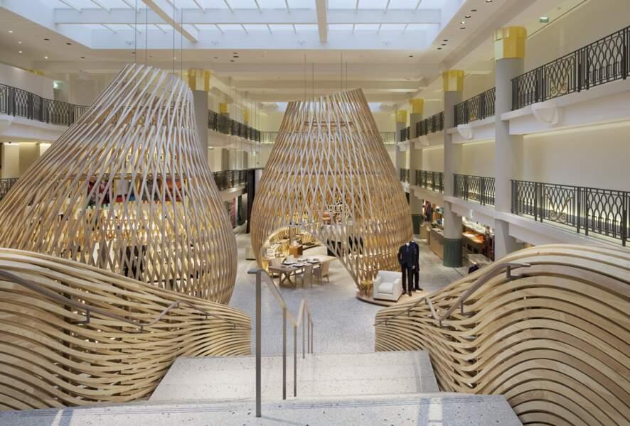 Hermès : les bois tressés de saint-germain-des-prés