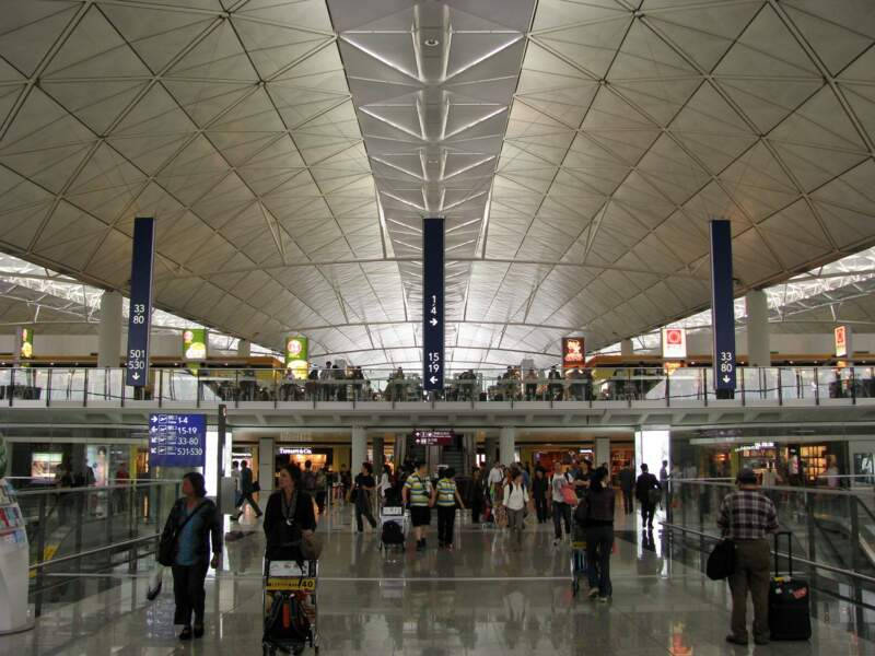 8ème : Aéroport International de Hong Kong (Chine)