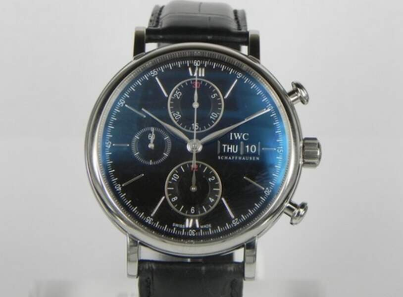 IWC, modèle Portofino Chrono Black Dial