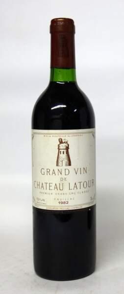 Château Latour, 1er grand cru classé, 1982, (1 bouteille)
