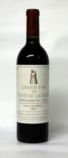 Château Latour, 1er grand cru classé, 1961, (1 bouteille)