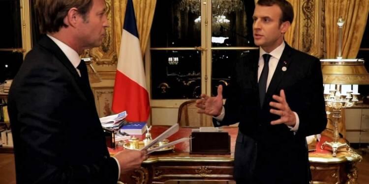 Macron sur France 2: 5,7 millions de téléspectateurs contre 7,6 pour le JT de TF1