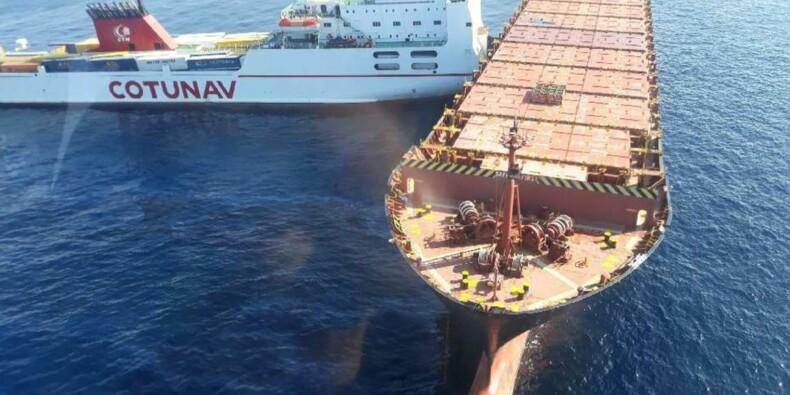 """Collision en mer: François de Rugy dénonce le comportement """"anormal"""" du navire tunisien"""